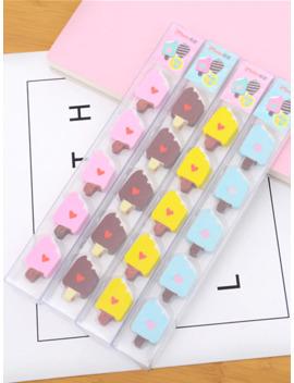 Random Boxed Ice Cream Shaped Eraser 5pcs by Romwe