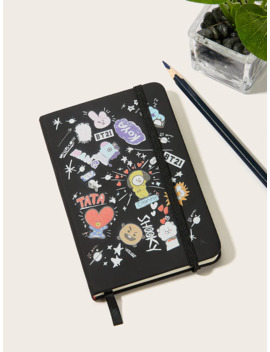 Cartoon Cover Notebook by Romwe