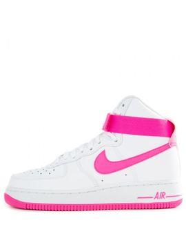 Women's Air Force 1 High White/Laser Fuchsia True Berry by Nike