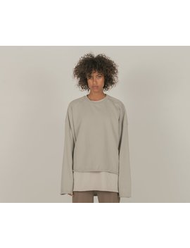 Cold Laundry Grey Crop Sweat by Cold Laundry