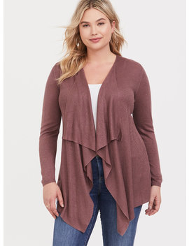 Walnut Drape Cardigan by Torrid