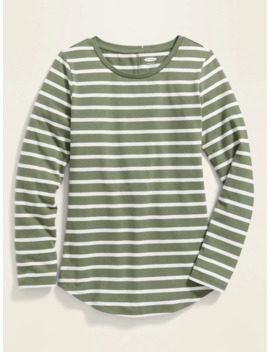 Fitted Softest Crew Neck Tee For Girls by Old Navy