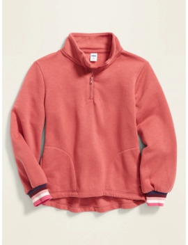 Mock Neck 1/4 Zip Pullover For Girls by Old Navy