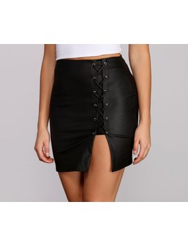 Lace Up Your Look Mini Skirt by Windsor