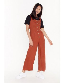 Linen Up Button Down Jumpsuit by Nasty Gal