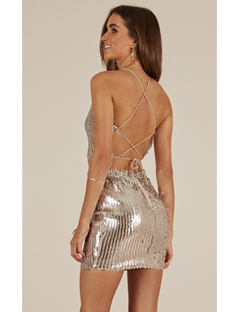 High Shine Two Piece Set In Silver Sequin by Showpo Fashion