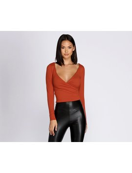 Simply Stylish Wrap Front Top by Windsor