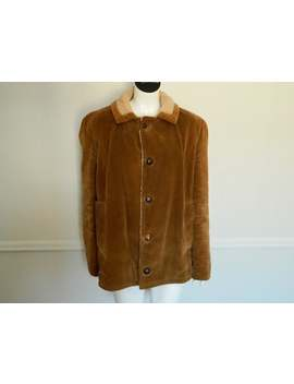 Retro 1970s Mens Tan Corduroy  Size  Medium Made In Canada by Etsy