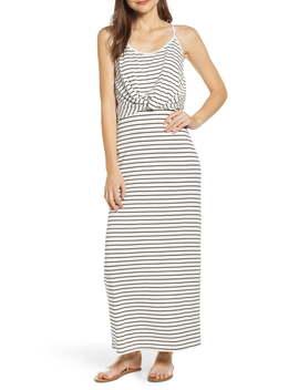 Twist Front Stripe Maxi Dress by Bp.