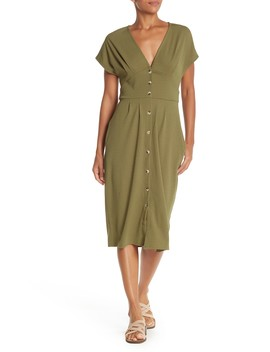 Button Up Midi Dress by Superfoxx