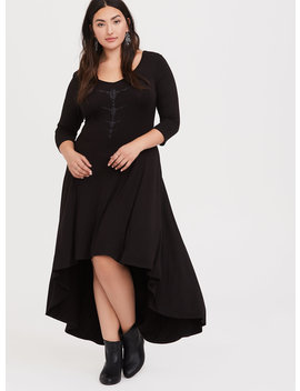 Her Universe Disney Maleficent 2 Black Jersey Hi Lo Dress by Torrid
