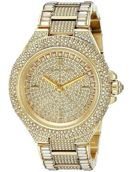 Gold Camille Stainless Steel Pave Crystal Mk5720 Watch by Michael Kors