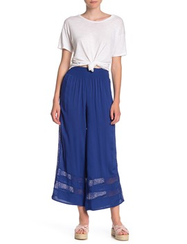 Lace Trim Palazzo Pants by Love, Fire
