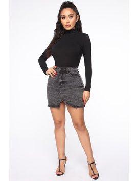 Keeping Secrets Mini Skirt   Acid Wash by Fashion Nova