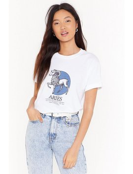 Tell Me Your Star Sign Aries Graphic Tee by Nasty Gal