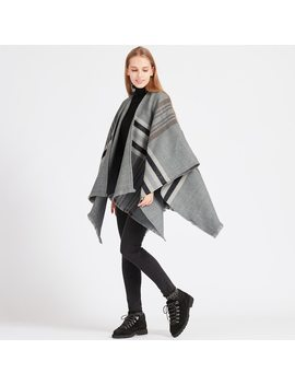 2 Way Neutral Checked Stole by Uniqlo