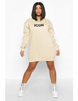 Plus Original Oversized Hooded Sweat Dress by Boohoo