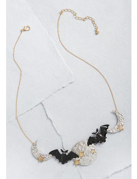 Up And Away Bat Statement Necklace by Modcloth
