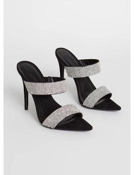 Glitz Double Strap Rhinestone Heels by Go Jane