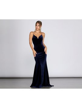 Marian Formal Velvet Gown by Windsor
