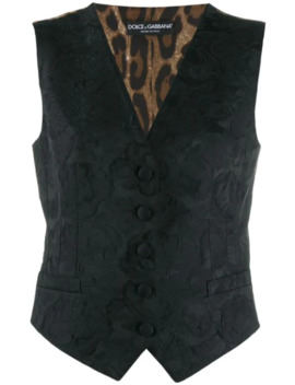 Floral Embroidered Waistcoat by Dolce & Gabbana