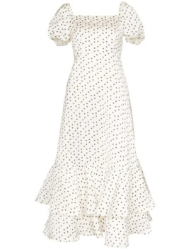 Eve Ruffled Floral Print Midi Dress by Shrimps