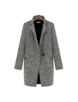 Womens Lapel Collar Wool Long Winter Parka Coat Trench Outwear Jacket Tops by Womens Coats & Jackets Shop All