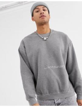 Topman – Sweatshirt In Verwaschenem Grau by Asos