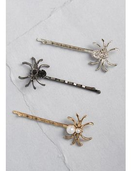 Chilly Trio Spider Bobby Pin Set by Modcloth