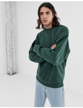 Asos Design   Oversized Sweatshirt In Groen by Asos Design
