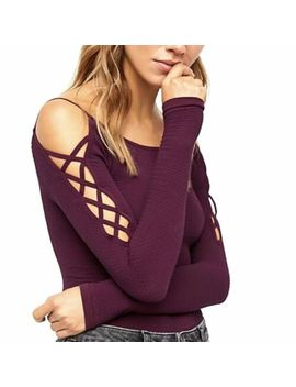 Free People Intimately Top Size M/L Laced Up Long Sleeve Layering Medium Large by Free People