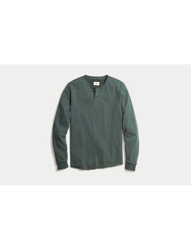 Double Knit Henley In Green Gables by Marine Layer