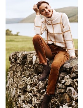Funnel Neck Check Jumper by Next