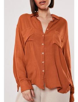 Rust Safari Pocket Shirt by Missguided