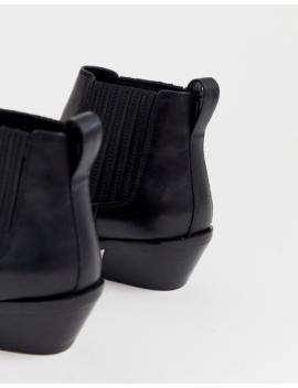 Asos Design – Adelaide – Svarta Chelseaboots I Läder by Asos Design