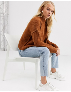 Only Highneck Rib Knitted Jumper by Only's