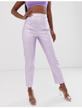 Asos Design Vinyl Spray On Pant In Lilac by Asos Design