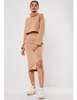 Camel Co Ord Midaxi Skirt by Missguided