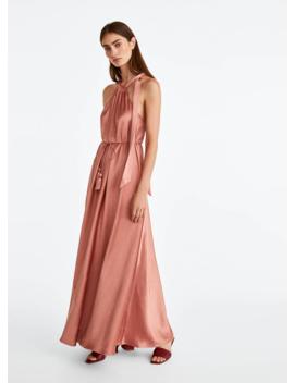 Długa Satynowa Sukienka by Uterqüe