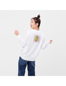 Damen Ut Bedrucktes Sweatshirt Sprz Ny Keith Haring by Uniqlo