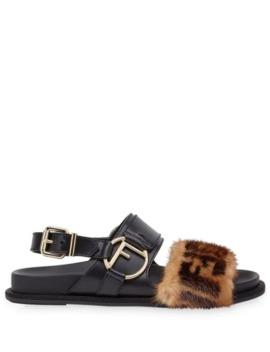 F Is Fendi Slingback Sandals by Fendi
