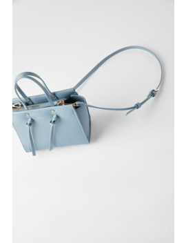 Knotted Mini City Bag by Zara