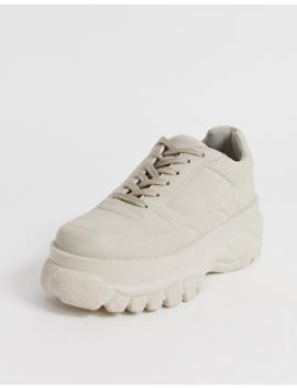 Asos Design Denmark Chunky Sneakers In Beige by Asos Design