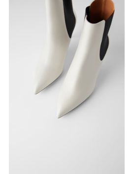 Stretch Mid Heel Ankle Boots View All Shoes Woman by Zara
