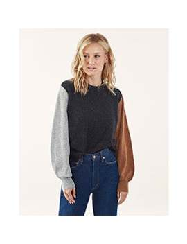 Colorblock Cashmere Sweater by Splendid