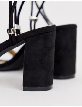 Raid Alondra Black Strappy Block Heeled Sandals by Raid