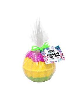 Pretty Suds Rhubarb & Custard Bath Bomb 200g by Pretty Suds