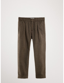 Checked Cotton Trousers by Massimo Dutti