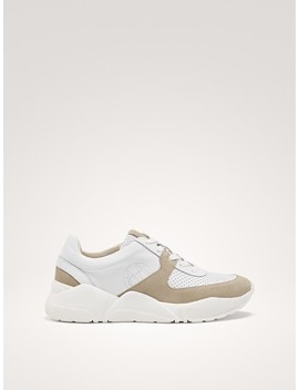 White Fashion Trainers by Massimo Dutti