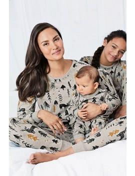 Grey Womens Matching Family Woodland Pyjamas by Next